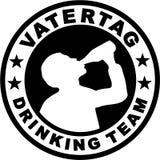 Trinkendes Team Fathersday stock abbildung