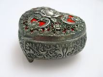 Trinket box. An elegant metal trinket box Royalty Free Stock Photography