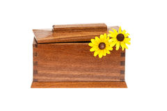 Trinket Box II. Trinket box on white background with flowers coming out the top Royalty Free Stock Images