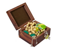 Trinket Box with Jewelery Royalty Free Stock Image
