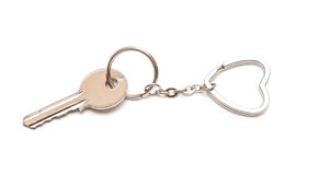 Trinket for the keys as a heart Royalty Free Stock Photo