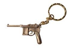Trinket voor de sleutels als Pistool Mauser royalty-vrije stock foto