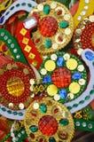Trinkets beads decoration. Beautiful trinkets beads decoration background Stock Image