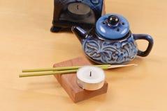 Trinkets domestici di terapia dell'aroma Fotografia Stock Libera da Diritti