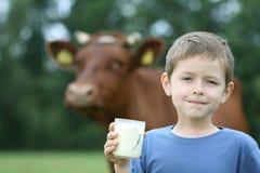 Trinkmilch lizenzfreie stockbilder