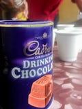 Trinkschokolade-Pulver-Kasten Cadbury ursprünglicher stockfotografie