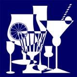 Trinkt Blau Stockfoto