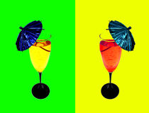 Trinkt Cocktail Lizenzfreie Stockfotos