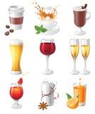 Trinkt Ikonen Lizenzfreie Stockbilder