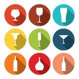 Trinkt Ikonen Stockbilder