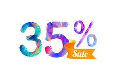 35 trinta e cinco por cento de venda ilustração do vetor