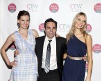 Trio. NEW YORK, NY - MAY 20: (L - R) Jill Flint, Mario Cantone, and Katrina Bowden attends the 2011 Cosmetic Executive Women Beauty Awards at The Waldorf-Astoria Stock Photography