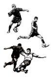 Trio 2 van het voetbal Stock Afbeelding