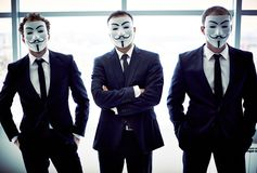 Trio anonyme photographie stock