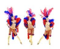 Trio attraente del cabaret Immagini Stock Libere da Diritti