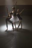 Trio of ballet dancers Stock Images