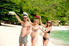 Trio on the beach Royalty Free Stock Image
