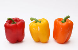 Trio of Bell Peppers Stock Images