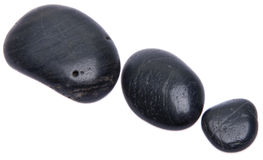 Trio of Black Stones Stock Photo