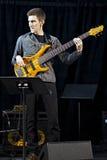 Trio Brownman Electryc spielt alle kanadische Jazz Festival in der Hafen-Hoffnung, AUF- 13. September 2015 Lizenzfreies Stockbild