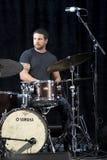 Trio Brownman Electryc spielt alle kanadische Jazz Festival in der Hafen-Hoffnung, AUF- 13. September 2015 Stockbild
