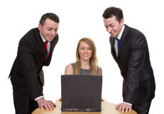 Trio of business people Royalty Free Stock Photos