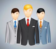 Trio of businessmen in suits Royalty Free Stock Photos