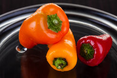 Trio of chillies Royalty Free Stock Images