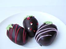 Trio chocolate ball Royalty Free Stock Image