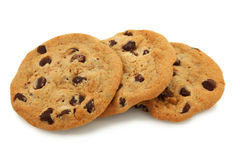 Trio Of Chocolate Chip Cookies Royalty Free Stock Image