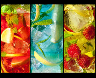 Trio of cocktails Royalty Free Stock Images