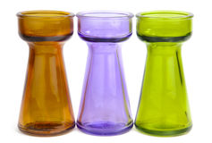 Trio of colored glass Stock Images