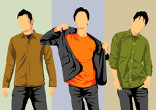 Trio cool guy Royalty Free Stock Images