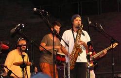 Trio Cubano de Lo au festival de musiciens de rue de Ferrare Photographie stock