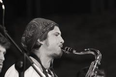 Trio Cubano di Lo al festival dei musicisti ambulanti di Ferrara Immagine Stock