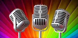 Trio d'annata del mic di art deco immagini stock libere da diritti