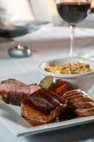 Trio da carne de porco Imagem de Stock