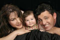 Trio da família fotografia de stock