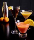 Trio das bebidas Imagem de Stock Royalty Free