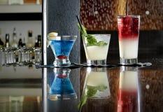 Trio de bebidas misturadas Imagens de Stock