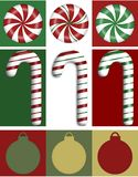 Trio de cadre de Noël photographie stock