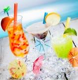 Trio de chás tropicais diferentes da bolha Foto de Stock Royalty Free