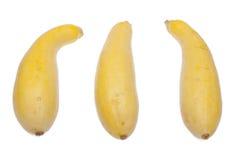 Trio de courge jaune Image libre de droits
