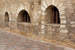 Trio de fenêtre d'Alamo Photographie stock libre de droits