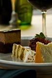 Trio de gâteau Photographie stock
