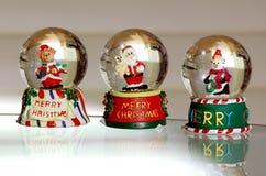Trio de globe de neige Image stock