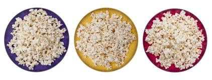 Trio de maïs éclaté images stock