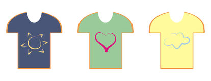 Trio de T-shirt Photographie stock