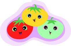 Trio de tomate illustration libre de droits