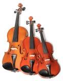 Trio de violons Photos libres de droits